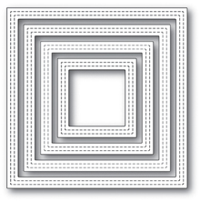 Poppystamps Die - Double Stitch Square Frames