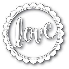 Poppystamps Die - Love Stitch Circle Frame
