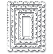 Poppystamps Die - Double Stitch Scalloped Rectangle Frames