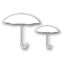 Poppystamps Die - Umbrella Duo