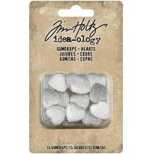 Tim Holtz Idea-Ology Gumdrops 15/Pkg - Hearts Clear