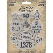 Tim Holtz Idea-Ology Metal Adornments 10/Pkg - Foundry