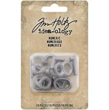 Tim Holtz Idea-Ology Metal Numbers 10/Pkg