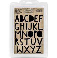 Tim Holtz Idea-Ology Cling Foam Stamps 26/Pkg - Cutout UC Alphabet 1.25