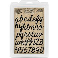 Tim Holtz Idea-Ology Cling Foam Stamps 38/Pk Cutout Script Alpha & Numb .75-1,25