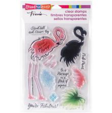 Stampendous Perfectly Clear Stamps 4x6 - Flamingo Messages