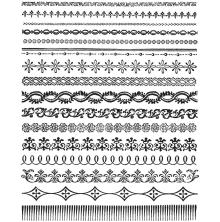 Tim Holtz Cling Stamps 7X8.5 - Ornate Trims