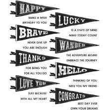 Tim Holtz Cling Stamps 7X8.5 - Pennants