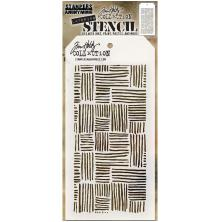 Tim Holtz Layered Stencil 4.125X8.5 - Thatched