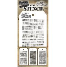 Tim Holtz Mini Layered Stencil Set 3/Pkg - Set #34
