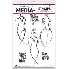 Dina Wakley Media Cling Stamps 6X9 - Contour Figures