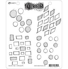 Dylusions Cling Stamp 8.5X7 - Four By Four