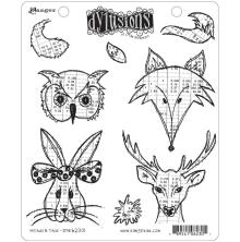 Dylusions Cling Stamp 8.5X7 - Heads N Tails
