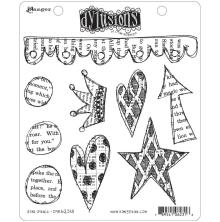 Dylusions Cling Stamp 8.5X7 - Star Struck