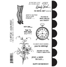 Wendy Vecchi Cling Stamps 6 1/2 x 8 3/4 - No Ring Art