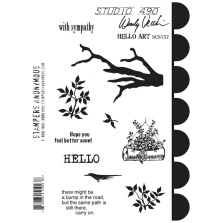 Wendy Vecchi Cling Stamps 6 1/2 x 8 3/4 - Hello Art