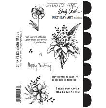 Wendy Vecchi Cling Stamps 6 1/2 x 8 3/4 - Birthday Art