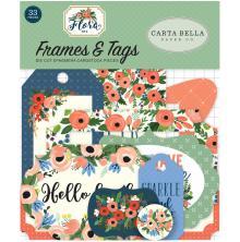Carta Bella Flora No. 2 Ephemera Cardstock Die-Cuts 33/Pkg - Frames & Tags