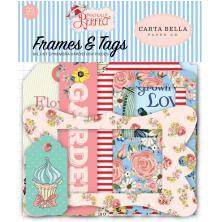 Carta Bella Practically Perfect Cardstock Die-Cuts 33/Pkg - Frames & Tags
