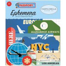 Carta Bella Passport Cardstock Die-Cuts 33/Pkg - Icons