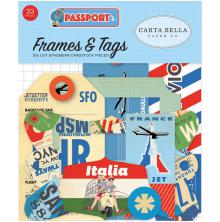 Carta Bella Passport Cardstock Die-Cuts 33/Pkg - Frames & Tags