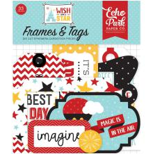 Echo Park Wish Upon A Star Cardstock Die-Cuts 33/Pkg - Frames & Tags