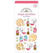Doodlebug Sprinkles Adhesive Glossy Enamel Shapes - Time For Takeout