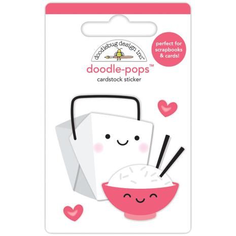 Doodlebug Doodle-Pops 3D Stickers - Takeout