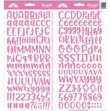 Doodlebug Abigail Cardstock Alpha Stickers 6X13 - Bubblegum