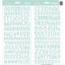 Doodlebug Abigail Cardstock Alpha Stickers 6X13 - Mint