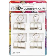 Dina Wakley Media Journal Clips 4/Pkg - Large