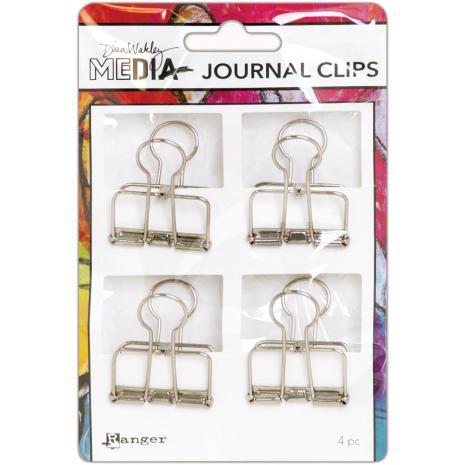 Dina Wakley Media Journal Clips 4/Pkg - Large
