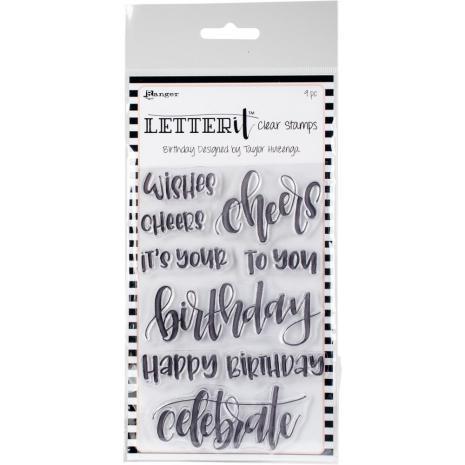 Ranger Letter It Clear Stamp Set 4X6 - Birthday