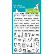 Lawn Fawn Clear Stamps 4X6 - Plan On It: Spring Cleaning