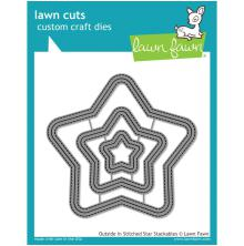 Lawn Fawn Custom Craft Die - Outside In Stitched Star Stackables
