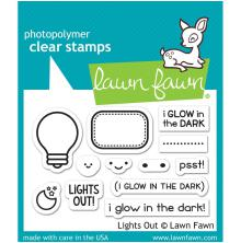 Lawn Fawn Clear Stamps 3X2 - Lights Out
