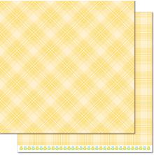 Lawn Fawn Perfectly Plaid Spring Double-Sided Cardstock 12X12 - Daffodil