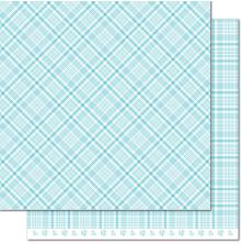 Lawn Fawn Perfectly Plaid Spring Double-Sided Cardstock 12X12 - Bluebell