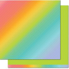 Lawn Fawn Really Rainbow Double-Sided Cardstock 12X12 - Green Clover