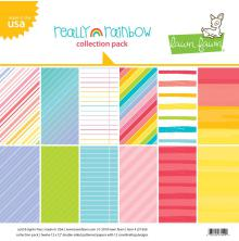 Lawn Fawn Double-Sided Collection Pack 12X12 12/Pkg - Really Rainbow