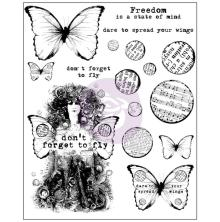 Prima Finnabair Cling Stamps 6X7.5 - Don´t Forget To Fly