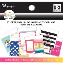 Me & My Big Ideas Happy Planner Tiny Sticker Pad - Bold And Bright