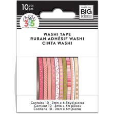 Me & My Big Ideas Happy Planner Mini Washi Tape 10/Pkg - Pink Hues