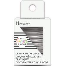 Me & My Big Ideas CLASSIC Happy Planner Metal Expander Discs 11/Pkg - Silver