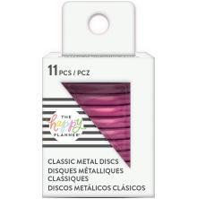 Me & My Big Ideas CLASSIC Happy Planner Metal Expander Discs 11/Pkg - Hot Pink