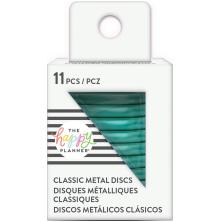 Me & My Big Ideas CLASSIC Happy Planner Metal Expander Discs 11/Pkg - Teal