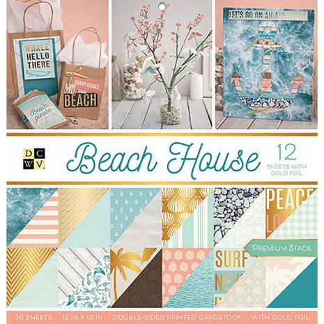 Die Cuts With A View Double-Sided Cardstock Stack 12X12 36/Pkg - Beach House