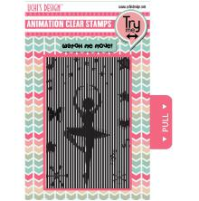 Uchi´s Animation Clear Stamps & Grid Set - Ballerina UTGÅENDE