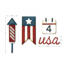 Tim Holtz Sizzix Sidekick Side-Order Set - Americana