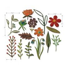 Tim Holtz Sizzix Thinlits Dies 15/Pkg - Funky Floral #2